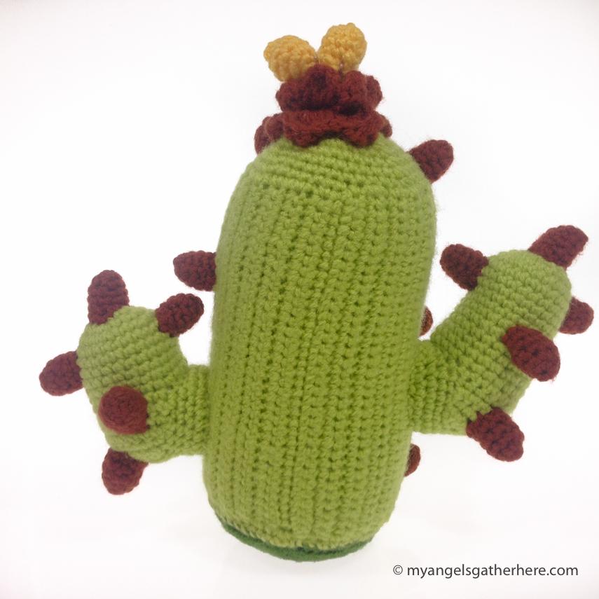 patron gratis amigurumi cactus - Puntos de Fantasía | 855x855