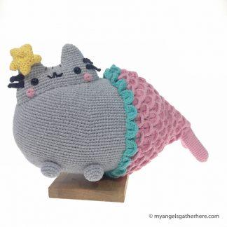 pink mermaid pusheen plush toy
