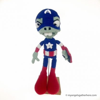zombie captain america plush toy